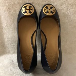 Tory Burch navy blue ladies shoes